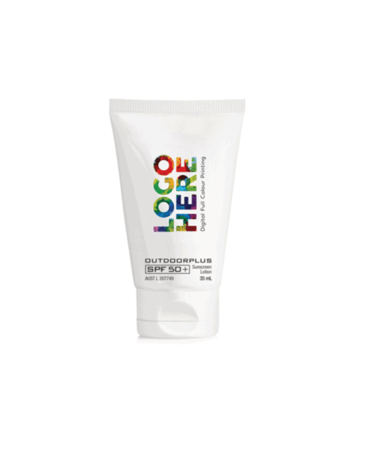 sunscreen with logo