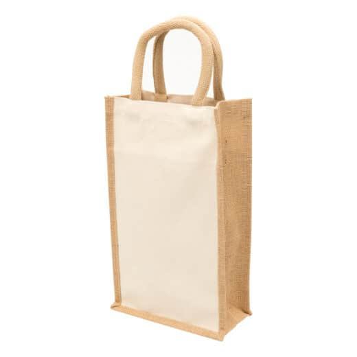 Jute Double Wine Bag